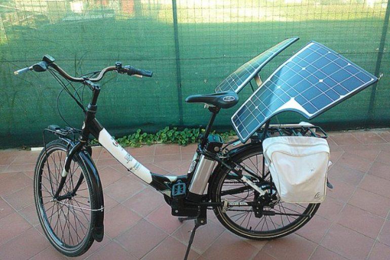 Brevettata la prima bicicletta con impianto Fotovoltaico. Un' invenzione Made in Italy