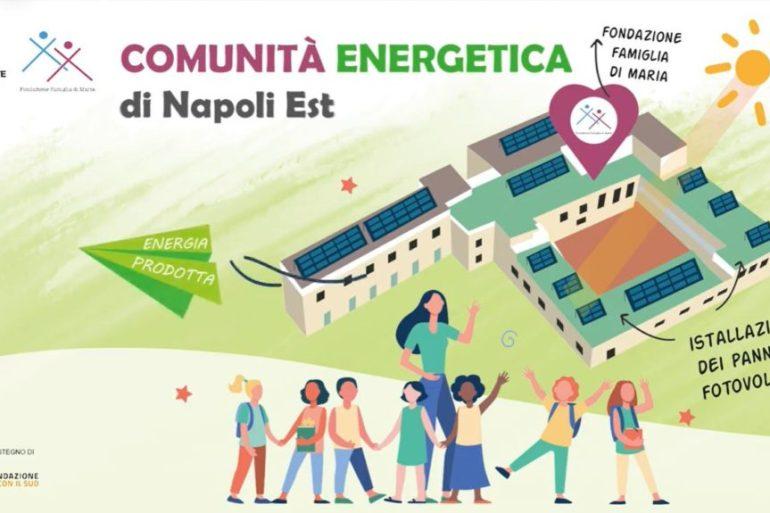 Costituita una comunità energetica nella periferia di Napoli. Installato un impianto fotovoltaico da 53 kWp